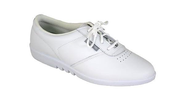 Chaussures À Lacets Pour Les Femmes, La Peau Lisse D'excellente Qualité Peuvent Être Lavés Dans La Machine À Laver, 4 Couleurs, Blanc, Taille 38