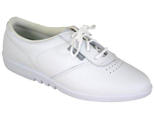 Damen Qualität, die weiche Leder Maschinenwaschbar Schuhe Weiß