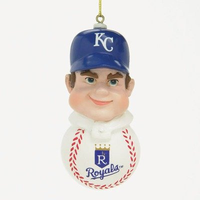 MLB Caucasian Slugger Ornament MLB Team: Kansas City Royals