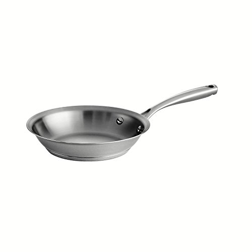 Tramontina 80101/019DS Gourmet Prima Stainless Steel Tri-Ply Base Fry Pan, 8 inch, Made in Brazil