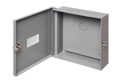 1 Outdoor Enclosure - Arlington Industries EB1212BP-1  Electronic Equipment Enclosure Box with Back plate, 12 x 12 x 4-Inch, Non-Metallic, 1-Pack