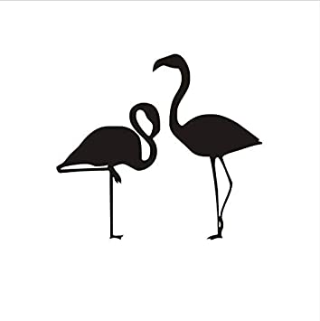 Amazoncom Namefeng Simple Design Two Flamingo Wall Decals