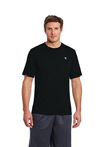 Champion Men's Double Dry T-Shirt, Black, M ()