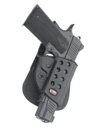 Fobus Tactical KMSP RT Standard Right Hand Conceal Carry Polymer Roto Paddle Holster For Colt 1911 with Rails, Kimber Custom TLE / RL II .45 cal / Springfield 1911 .45 cal - Black