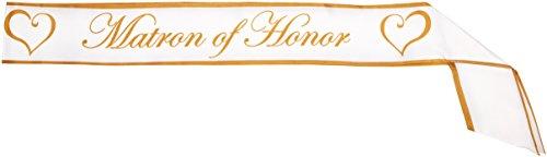 Matron Of Honor Sash - Matron Of Honor Satin Sash Party Accessory (1 count) (1/Pkg)