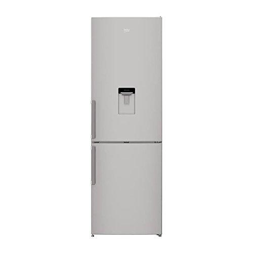 Beko crcsa295k21ds - réfrigérateur congélateur bas - 295l (205l+ 90l) - froid brassé - classe a+ - l59,5 x h185,3cm - silver
