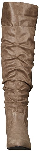 Fergalicious Womens Rookie Wide Vitello Slouch Boot Taupe