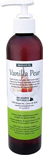 (Vanilla Pear Body Oil / Massage Oil 8 fl. oz. with All Natural Plant)
