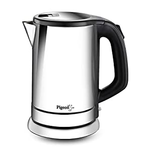 Pigeon by Stovekraft Zen Kettle with Stainless Steel Body, 1.8 litres with 1500 Watt, Boiler for Water, Milk, Tea…