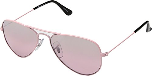 Ray-Ban Kids' 0rj9506s211/7e52junior Non-Polarized Iridium Aviator Sunglasses, Pink, 52 - Pink Rayban Aviator