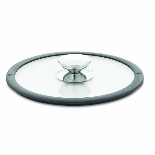 Berndes 007584 Glass Lid with Black Silicone Rim 10 Inches Diameter