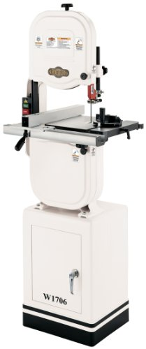 Shop Fox W1706 14'' Bandsaw With Cast Iron Wheels & Deluxe Aluminum Fence by Shop Fox