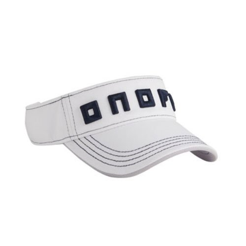 ONOFF(オノフ) onoff equipment サンバイザー ホワイト×ネイビー フリーサイズ YOK0318-217