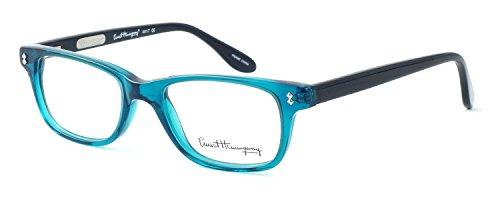 Ernest Hemingway Eyeglass Collection 4617 in Teal-Black ; Demo Lens