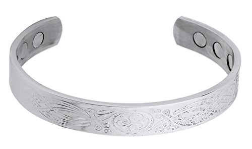 - Stainless Steel Celtic Knot Irish Style Nordic Pattern Magnetic Therapy Cuff Bracelet to Keep Fit and Health(0.39