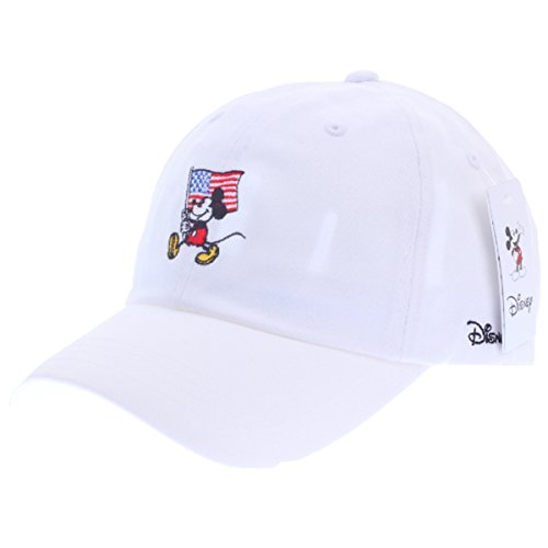 Disney Authentic Baseball Trucker Golf Sports Hats Mickey Flag Ball Caps CH White