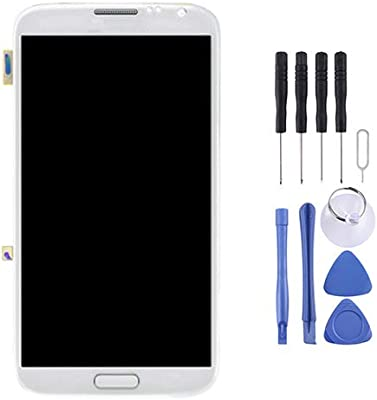 Color : Grey Touch Panel with Frame for Galaxy Note II // N7105 Mobile Phone LCD Screen Replacement LCD Display Grey