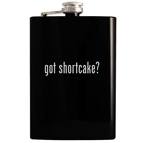 (got shortcake? - Black 8oz Hip Drinking Alcohol Flask)