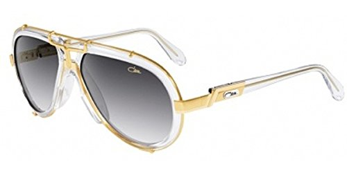 Cazal 642 Sunglasses 065 Crystal/Gold/Grey Gradient 62 mm ()