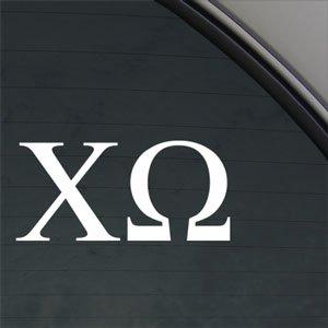 Crawford Graphix CHI Omega Sorority Decal Chi-O Truck Window Sticker