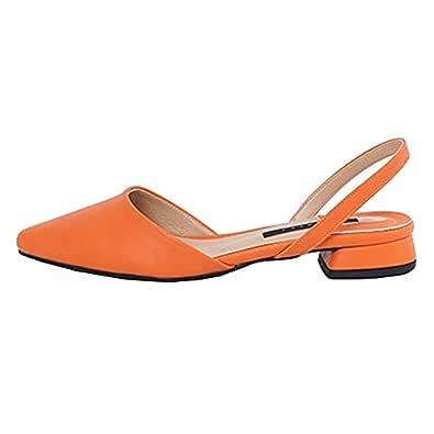 Basic Sling Back Flats Orange