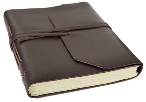 Life Arts Handmade Indra Leather Journal Tan, A5 Plain Pages