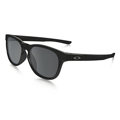 Oakley Stringer Sunglasses, Polished Black/Black Iridium, One Size (Sunglasses Oakley)