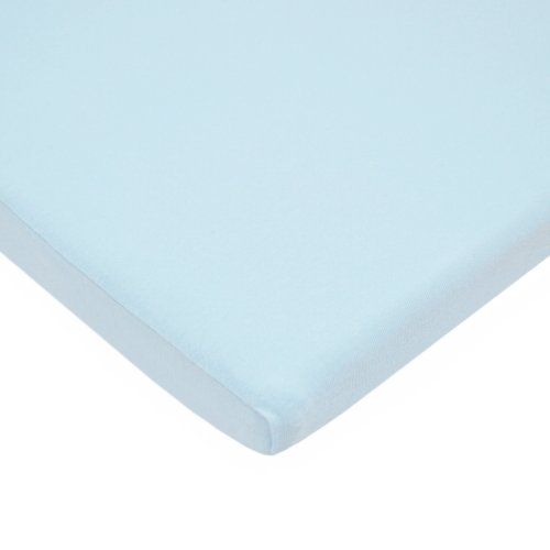 TL Care 100% Natural Cotton Value Jersey Knit Fitted Bassinet Sheet, Blue, Soft Breathable, for Boys and Girls