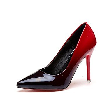 Gris Tacones Rosa Otoño Tacón Rojo Mujer ggx Semicuero Stiletto Ruby Verano Cms 7'5 9'5 Lvyuan 8ASqE