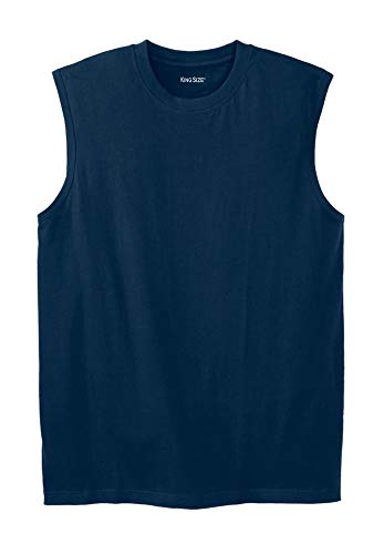KingSize Lightweight Cotton Muscle Shirt, Navy Big-6Xl