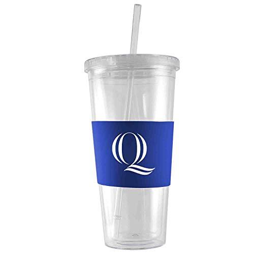 - Quinnipiac University -24 oz. Acrylic Tumbler- Engraved Silicone Sleeve-Blue