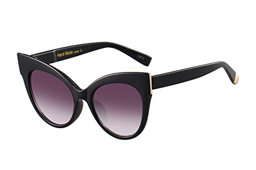 Oversized Cat Eye Frame UV400 Womens Sunglasses , Black Fashion Trend Eyewear - Trend Glasses