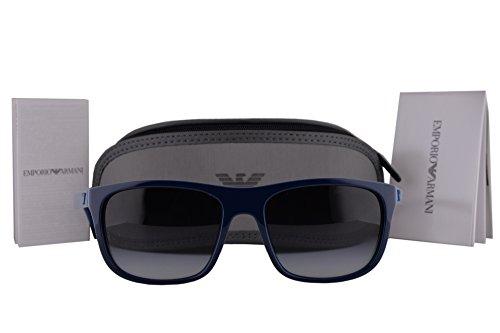 Emporio Armani EA4085 Sunglasses Top Dark Blue On Azure w/Gray Gradient Lens 55568G EA - Sale Armani On