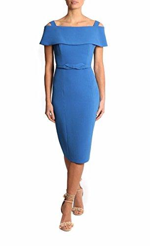 Shoulder Dress Blue Knee Blevla of Straps Bride Mother length Off The 7FECxw6q