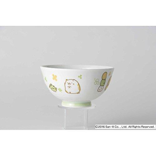 [2 bowls set!!] San-X Sumikko Gurashi Japanese Rice Bowl & Japanese Soup Bowl Set for Kids White & Green by San-X (Image #2)
