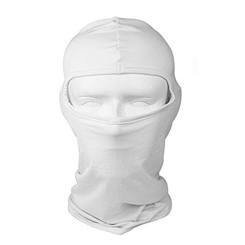 Balaclava Face Protection Mask Ultra-thin Full Face Ventilation Mask, Ninja Mask Head Sock Motorcycle Helmet Cover Hood Neck Warmer Tactical Skateboard Helmet Head Liner Face Mask Bandana, - White Summer Hot