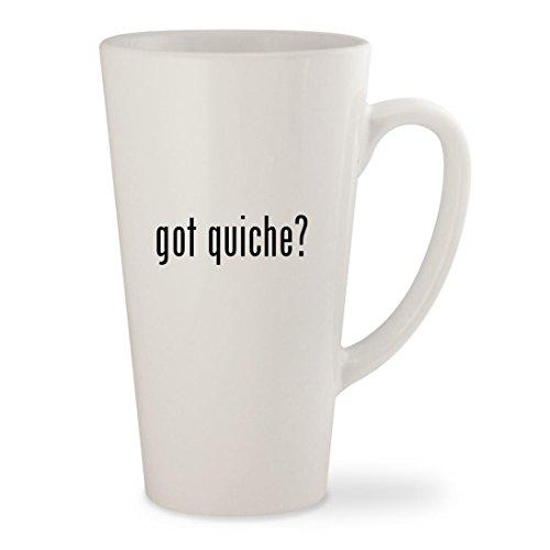 got quiche? - White 17oz Ceramic Latte Mug Cup