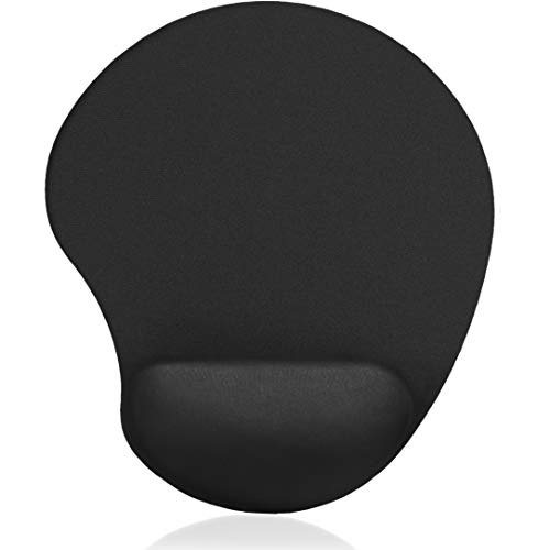 MROCO Ergonomic Mouse Pad with Memory Foam Wrist Rest Comfortable Mouse Pad with Wrist Support, Pain Relief Mousepad with Non-Slip Rubber Base Mouse Mat for Home, Office & Travel, 9 x 8in, Black