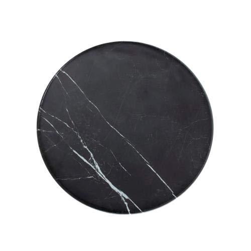 American Metalcraft MB171 Melamine Serving Round Board, Marble, Black, 17 1/4-Inch Diameter