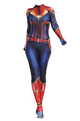 Texmex Superhero Bodysuit Costume Women Spandex Lycra Cosplay Zentai Suit, Style4-2XL]()