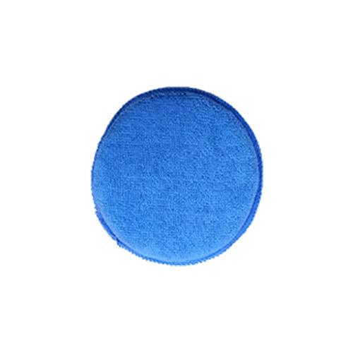 Baombao Cleaning Sponge, Car Waxing Polish Pocket Round Microfiber Foam Sponge Applicator Cleaning Detailing Pads (Light Blue)
