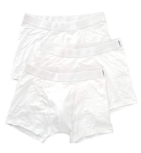 - Bread and Boxers - Men's Premium Organic Cotton Boxer Briefs - Pack of 3 (Large, White)
