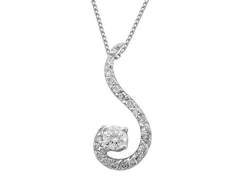 Pendentif Diamants 0.23 Carat-Femme- or Blanc 215P0053