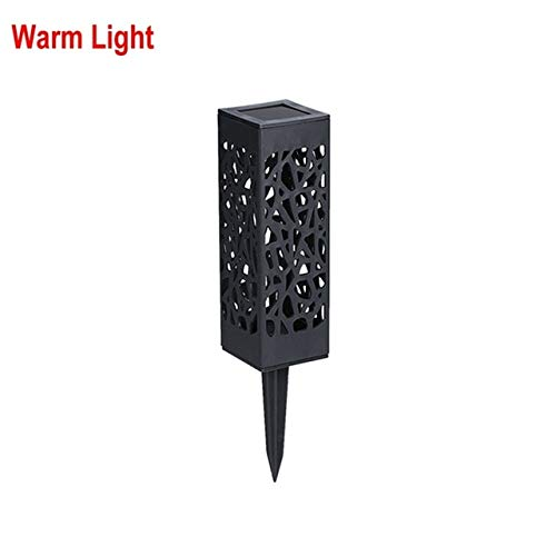 Solar Torch Light Waterproof Outdoor Led Lanterns Lamps Garden Decor Led Carved Lawn Light Solar Garden Light 4 Pieces Warm Light