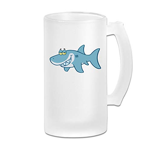 Frosted Beer Cup, Shark Cartoon - Free Clipart Personalized Stein ()