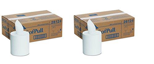 SofPull Centerpull Regular Capacity Paper Towel by GP PRO, White, 28124, 320 Sheets Per Roll, 6 Rolls Per Case (2 ()