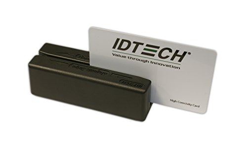 Hid Track Heads - Idtech IDMB-355133BX MiniMag Duo Dual Head MagStripe Reader, Track 3, USB-HID, Bottom Exit, Black