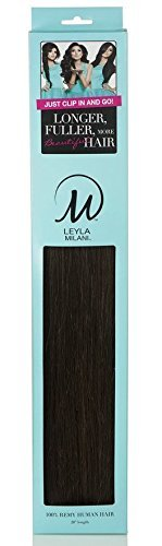 LEYLA MILANI #1 JET BLACK 20'' CLIP IN HAIR EXTENSIONS by LEYLA MILANI