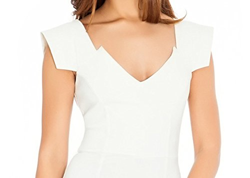Manica Bianco Donne Vestito 1950 Retrò Tappo Ssyiz Di Matita Business Stile Delle Personalizzati Sottile Dalla P1U6xwq