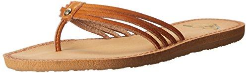 Roxy Women's Riviera Flip Flop, Tan, 6 M US (Charm Roxy)